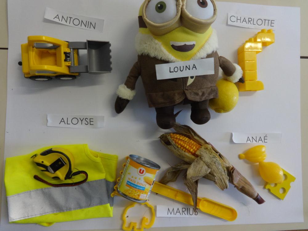 jaune objets ps