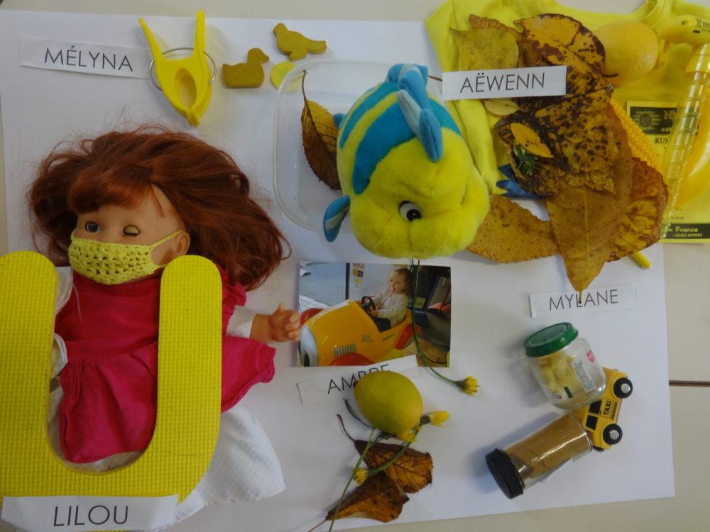 jaunes objets garçons gs